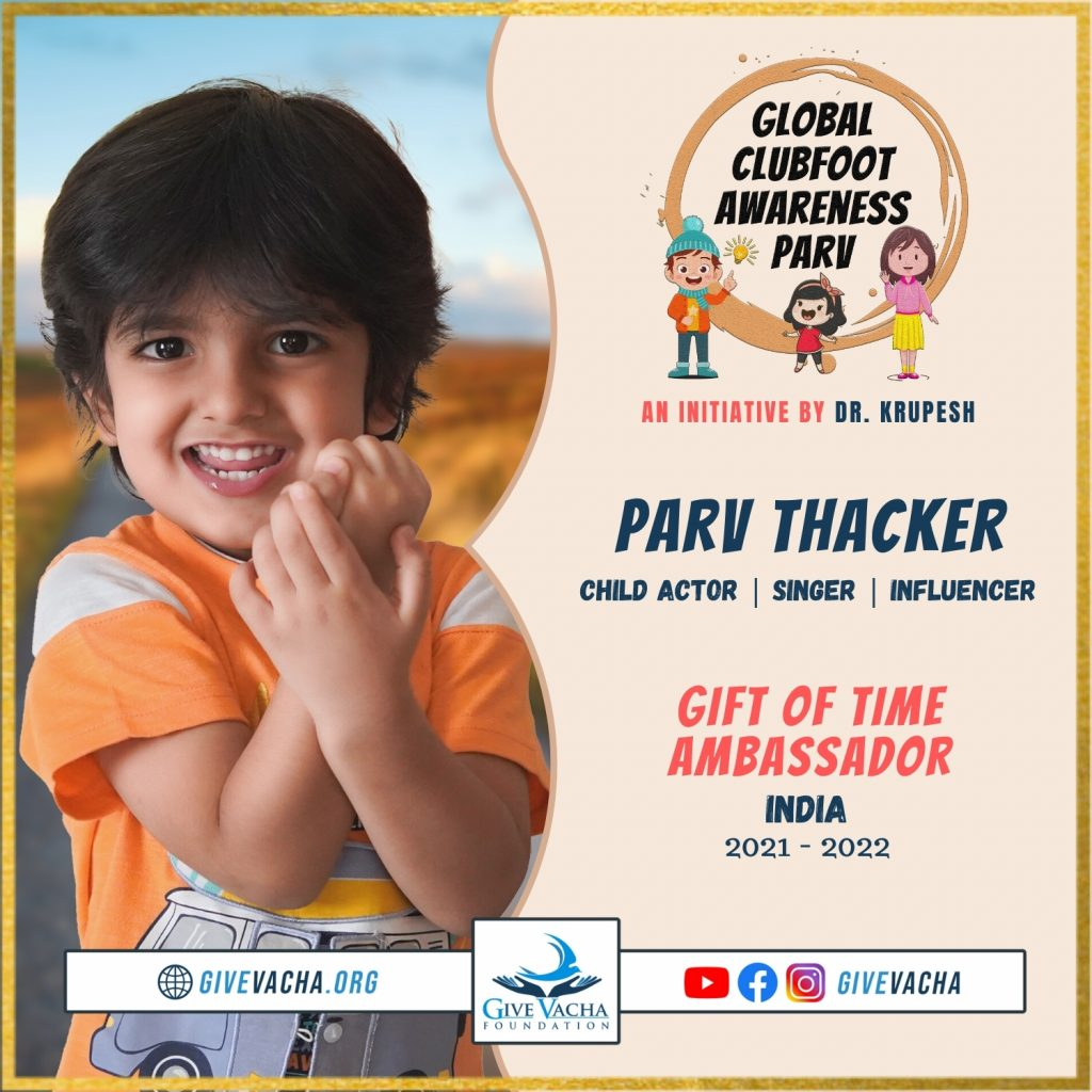 Global Clubfoot Awareness Parv Featuring Parv Thacker at Give Vacha Foundation